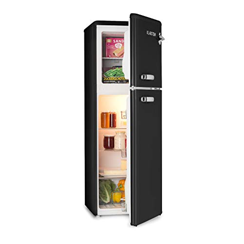 KLARSTEIN Audrey - Frigo e Congelatore Combinati, Freezer 39 Litri, Frigorifero 97 Litri, 3 Ripiani...