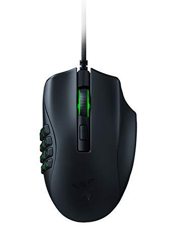 Razer Naga X - Kabelgebundene Gaming Maus mit 16 programmierbaren Tasten für PC / Mac (Optische Maus Switches, optischer 5G-Sensor, Speedflex-Kabel, Chroma RGB Beleuchtung) Schwarz