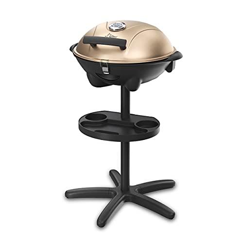 SUNTEC Barbecue Braciere Elettrico BBQ [Cofano Amovibile con Indicatore di Temperatura, Termostato Regolabile, max. 2400 W] (BBQ-9479)
