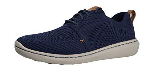 Clarks Step Urban Mix, Zapatos de Cordones Derby Hombre, Azul (Navy-), 41 EU