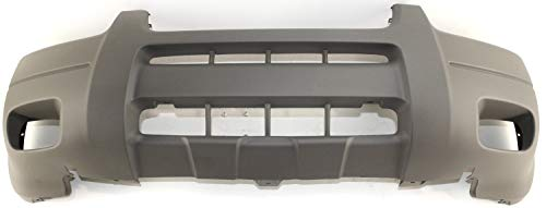 Front Bumper Cover Compatible with 2001-2004 Ford Escape Textured Titanium with Fog Light Holes with Mldg Holes XLS/XLT Model