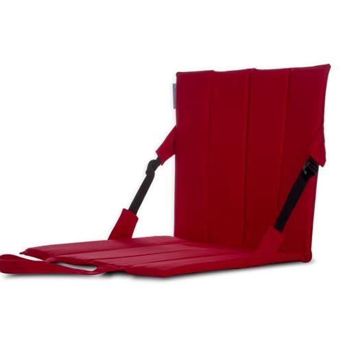 TipTop Yoga Back Rest Meditation Chair for Travelling Essay to Carry Sheet Size (17 x 16 x 17) Inches, Maroon