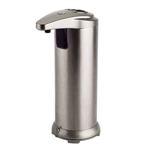 OYSRONG Stainless Steel Sensor Soap Dispenser,Automatic IR Infrared Motion Liquid Soap Dispenser for Kitchen Bathroom(Champagne)