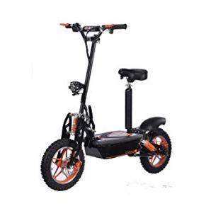 Patinete eléctrico hasta 40 km/h rápido – con alcance de 30 km, 48 V | 1500 W | batería de 12 Ah, con asiento, frenos y…