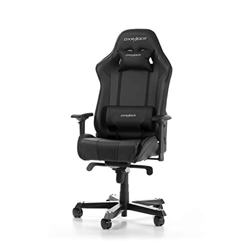 DXRacer (l'original) King K06 Chaise Gaming, Similicuir, Noir, 160-195 cm