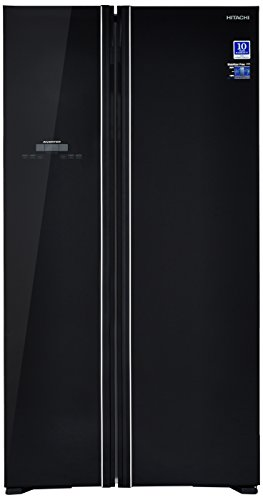 Hitachi 659 L Frost Free Side-by-Side Refrigerator(R-S700PND2 - GBK, Glass Black, Inverter Compressor)