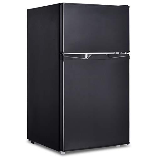 GOPLUS Frigo Frigorifero Doppia Porta a Compressore con Congelatore Regolatore Temperatura, 85 Litri...