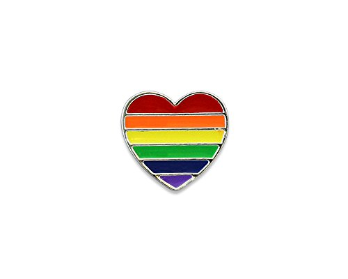 Fundraising For A Cause LGBTQ - Rainbow Heart Pin
