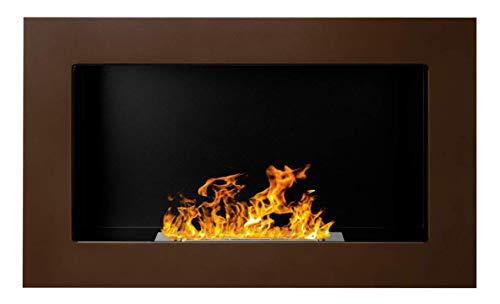 Bio Ethanol Fire BioFire Fireplace Modern 650 x 400 Brown …