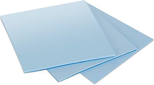 POPPSTAR 3X Thermal Pad 50 x 50 mm con conductividad térmica de 6 W/MK (3 grosores: 0,5 mm / 1 mm / 1,5 mm), Color Azul