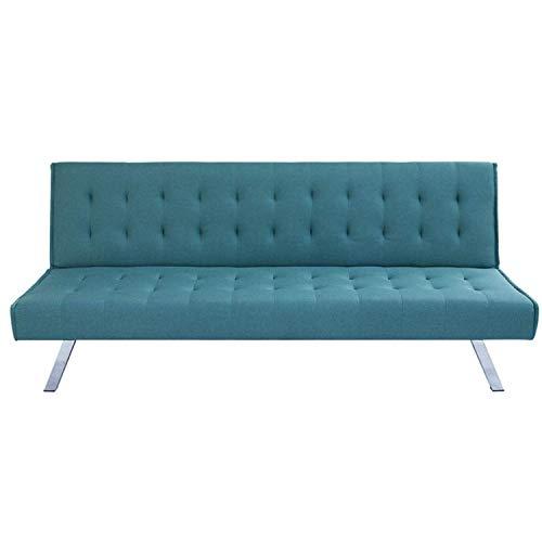 Divano letto 3 posti in tessuto, Dimensioni divano: 180 * 92 * 79, Spessore del materasso 15cm, disponibile in diversi colori Dimensioni letto: 180 * 108 * 38 (Acquamarina)