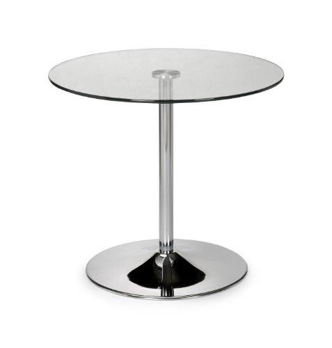 Julian Bowen Kudos - Tavolo con piedistallo, in vetro e cromo