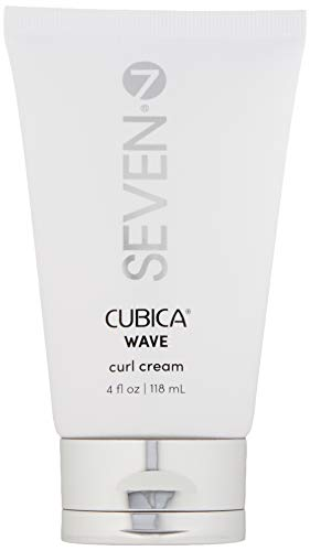 Cubica WAVE curl cream from SEVEN haircare, A Curl Defining, Moisturizing Cream for Curly Hair with Organic Argan Oil. Cruelty Free, Dye Free, Alcohol Free, 4 Fl oz