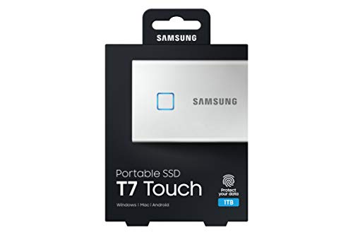Samsung Galaxy Z Flip (Gold, 8GB RAM, 256GB Storage)-Samsung T7 Touch 1TB USB 3.2 Gen 2 (10Gbps, Type-C) External Solid State Drive (Portable SSD) Silver (MU-PC1T0B) 8