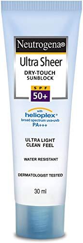 Neutrogena Ultra Sheer Dry Touch Sunblock SPF 50+ Sunscreen For Women And Men, 30ml