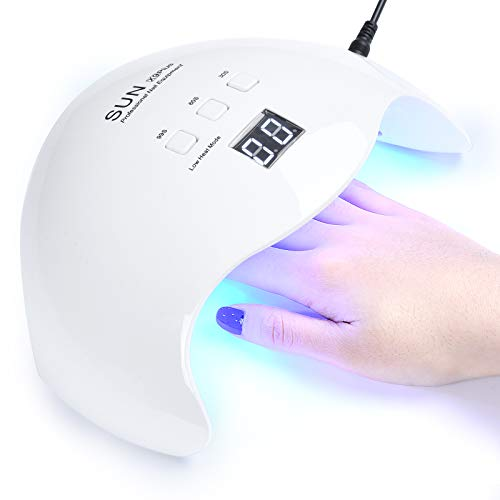 48W LED Nail Lamp, DIOZO Portable Nail Dryer Manicure/Pedicure Curing Lamp with 30s 60s 99s Timer Plus Gloves Gift Suitable for Fingernails and Toenails, Home and Salon