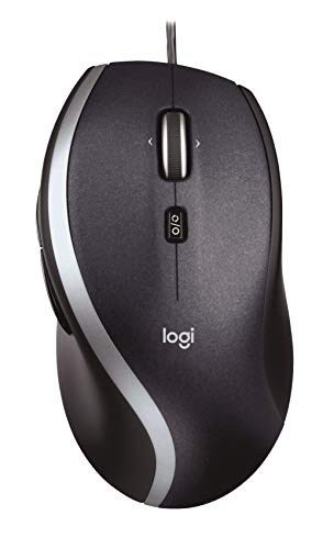 Logitech M500 Corded Mouse – Wired USB Mouse for Computers and Laptops, with Hyper-Fast Scrolling, Dark Gray