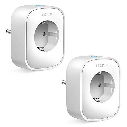 Enchufe Inteligente Wifi, Teckin Inalámbrico Smart Mini Monitor de...