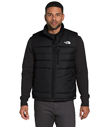 The North Face Men's Aconcagua Insulated Vest - Sleeveless Puffer Vest for Men, TNF Black, L