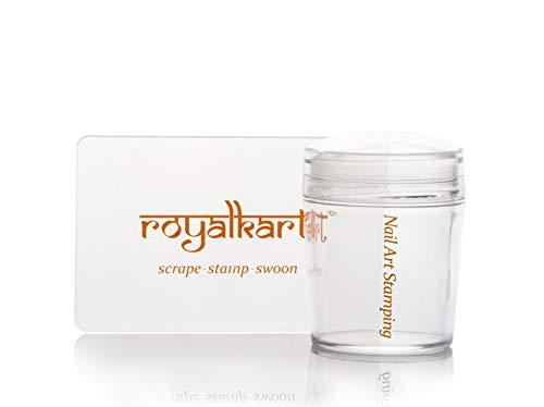 Royalkart Combo Of 3D Nail Art Stamping Kit 5 Rectangular Image Plates, Silicone Stamper & Scraper & 3D Nail Art Tools | techkashif