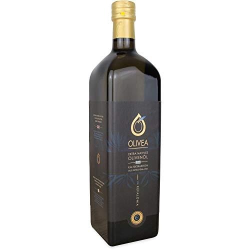 OLIVEA | Griechisches Olivenöl kaltgepresst, nativ extra von Kefalonia | 1 L Flasche | Exklusive Premium-Qualität