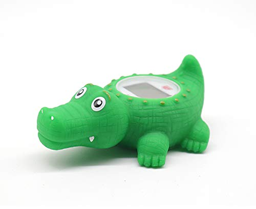 Baby-Bathtub-Thermometer-Infant-Baby-Bath-Floating-Alligator-Temperature-Thermometer-with-Temperature-Safety-Indicator-Alligator