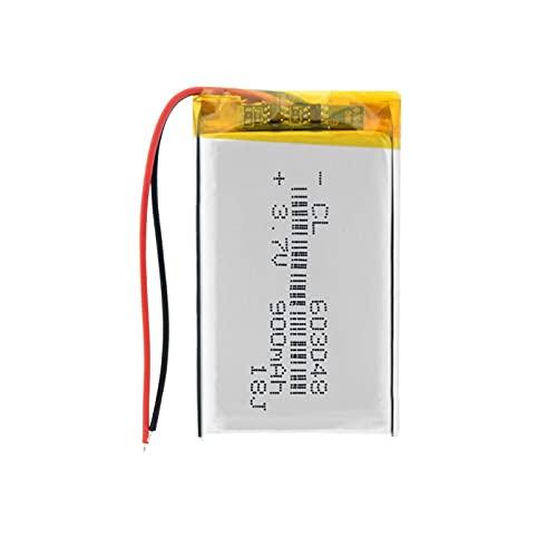 TTCPUYSA Batteria Ricaricabile Ai Polimeri di Litio da 3.7v 900mah 4603048 8x30x6mm agli Ioni di Litio, Sostituzione del Drone della Luce Dell'altoparlante LED 1piece