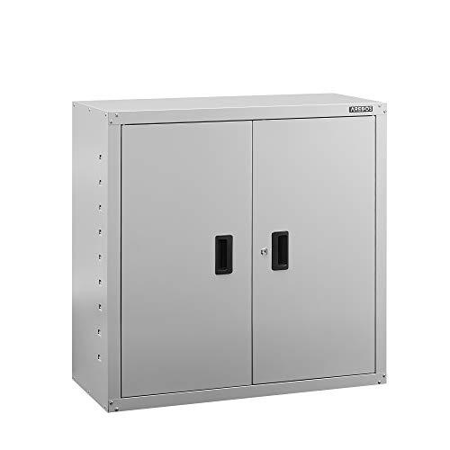 Arebos | Armadio portadocumenti da ufficio | 90 x 40 x 90 cm | 2 ante | ripiano regolabile in altezza | con serratura a cilindro