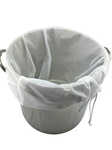 """Mesh Brewing Bag - Extra Large (26"""" x 22"""") Reusable Drawstring Straining Brew in a Bag"""