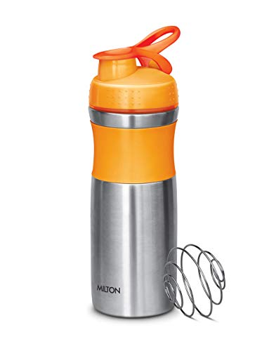 Milton Unisteel Stainless Steel Promix 800 Bottle for Gym (Orange)