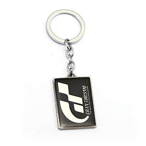 YUNMENG Schlüsselbund Schlüsselring Heißes Spiel Gran Turismo Gt Schlüsselbund Anhänger Anhänger Schlüsselring Geometrischer Metall Schlüsselring Chaveiro Zubehör