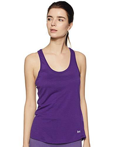 Under Armour Threadborne Streaker Women's Sports T-Shirt (1271522-181_LG_Purple Emerite and Reflective)
