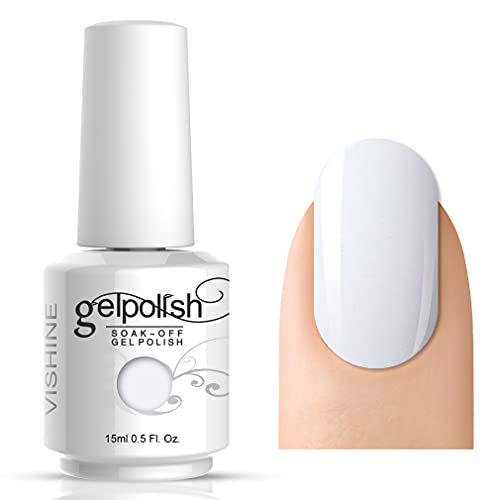 Vishine Gelpolish Professional UV LED Soak Off Varnish Color Gel Nail Polish Manicure Salon Pure White (1433)