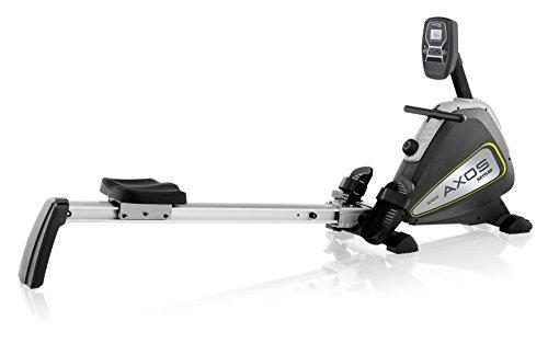 Kettler, Vogatore Axos Rower–con Display LCD–con 8Livelli–per l'Allenamento a casa–Colore Argento/Antracite