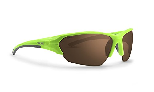 Epoch 2 Golf Sunglasses Lime and Gray Frame High Clarity Brown Lens