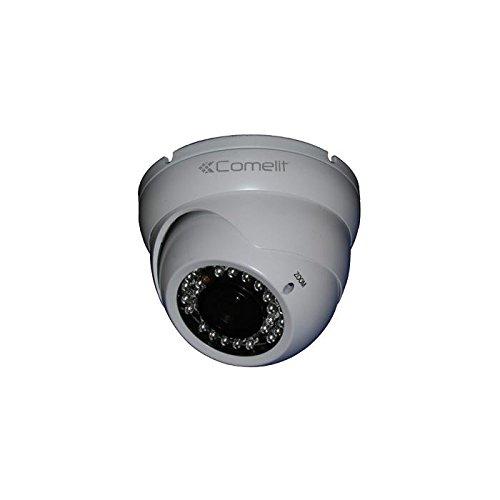 Comelit SCAM138A Telecamera Minidome 800 TVL, Obiettivo Varifocale 2.8-12 mm, IR 30 m, IP66