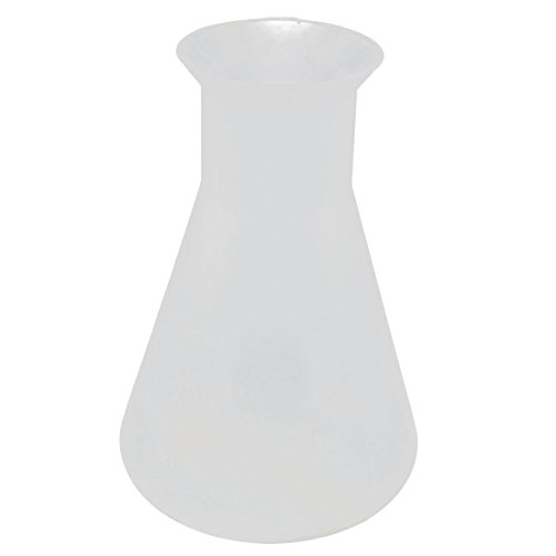uxcell Plastic 250ML Chemistry Course Narrow Mouth Solution Measuring Erlenmeyer Flask