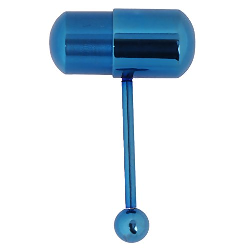 FITYLE Anillo De Lengua De Masaje De Acero Inoxidable Unisex Piercing Barbell Piercing del Cuerpo - Azul