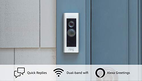 Product Image 1: Ring Video Doorbell Pro – Upgraded, with added security features and a sleek design (existing doorbell wiring required)