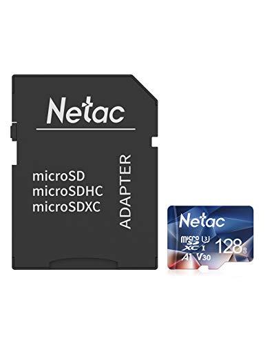 Netac 128G Scheda Micro SD con Adattatore SD, Scheda di Memoria A1, U3, C10, V30, 4K, 667X, UHS-I velocit Fino a 100/30 MB/Sec(R/W) Micro SD Card per Telefono, Videocamera, Switch, Gopro, Tablet
