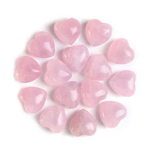 Sunligoo Natural Healing Crystal Rose Quartz Heart Love...