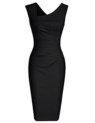 Ultra form-fitting,extremely comfortable Sleeveless,Classical Cutting Pleated Detail Design,Below Knees Perfect for the upcoming season Do carefully read the size guide in the detailed pictures, not the ones by Amazon on the side of the item that you...