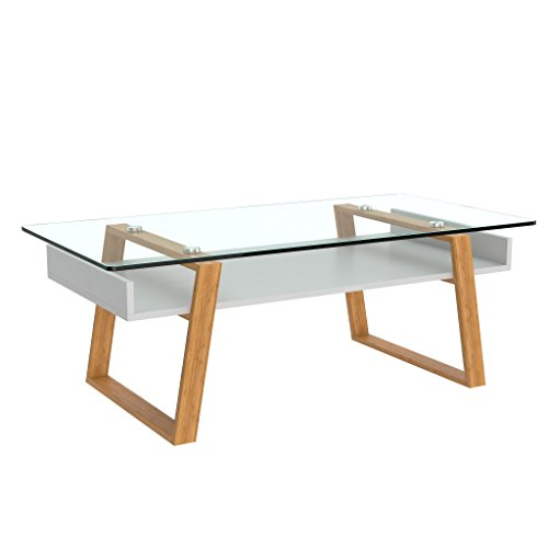 bonvivo Donatella Tavolino da Salotto, Tavolino in Vetro, Tavolino da Soggiorno Tavolino per...