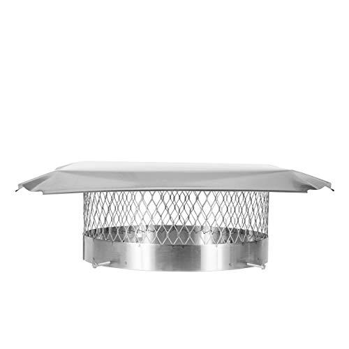 Draft King SS16U Round Bolt On Stainless Steel Single Flue Chimney Cap, 16' Diameter