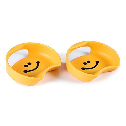 MC Guyot Design Splash Guard-Universal for Wide Mouth Bottles, 2-Pack (Smiley)