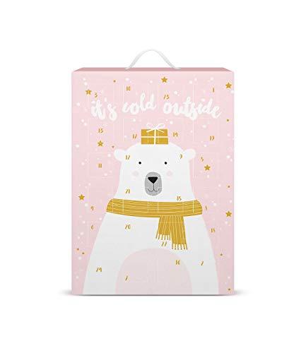 SIX Schmuck-Adventskalender mit Eisbär-Design: 24 Überraschungen in Form schöner Schmuckstücke wie Charms, Ohrringe, Ketten und Armbänder, zum Aufhängen oder Hinstellen (388-321)