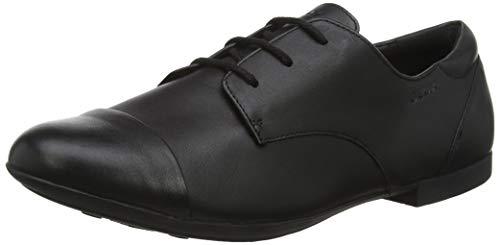 Geox JR Plie' F, Zapatos de Cordones Oxford Mujer, Negro (Black C9999), 37 EU