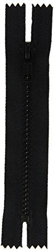 """Coats: Thread & Zippers F45 7-2-BLK Sport Closed Bottom Zipper, 7"""", Black"""