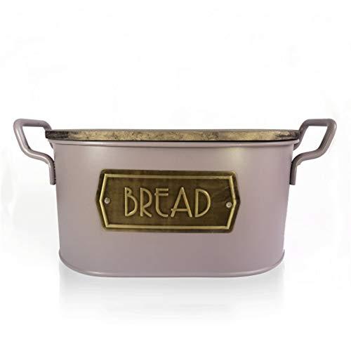 Sanzhileg Brotkästen Brotkasten, mit Holzdeckel und Schneidebrett Lagerung, Bin-Keeper-Lebensmittel-Küchenbehälter verzinkt Aufbewahrungsboxen (Color : Rose Pink)