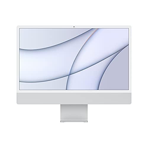 2021 Apple iMac (de24Pulgadas, Chip M1 de Apple con CPU de Ochonúcleos yGPU deOchonúcleos, Cuatro Puertos, 8GB RAM, 512GB) - Plata